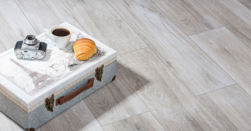 zdjęcie floor tiles wood-like gres porcelain 20/120 cm mattina bianco cerrad